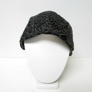 VTG 40s cord embroidered hat with snood net
